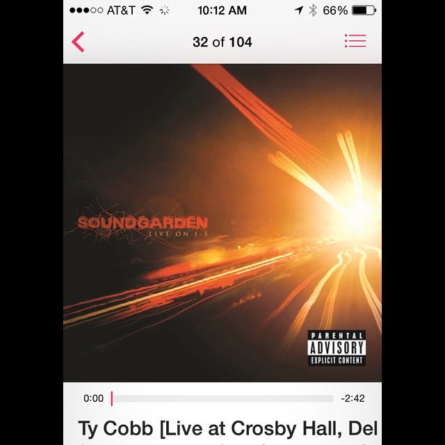 @Soundgarden #TyCobb #LiveOnI5 this band is just awesome lik...