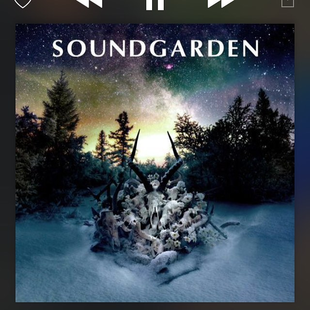 Today's soundtrack #soungarden #kinganimal 👌🏻...