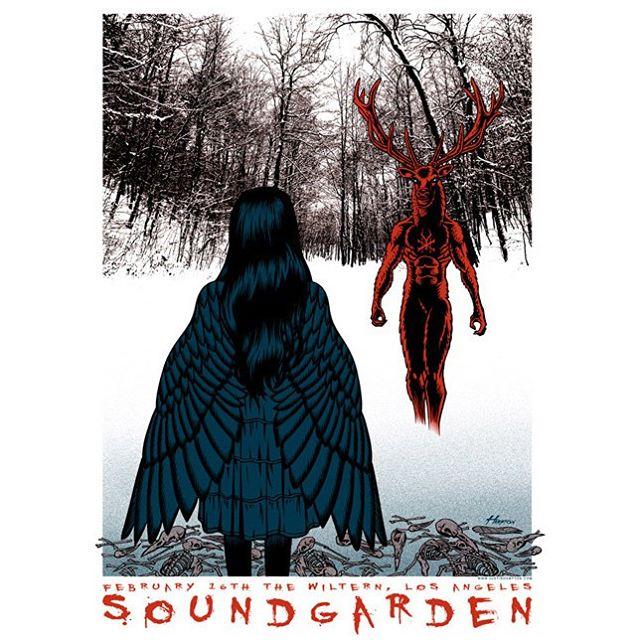 Bones of birds Singing in the cold Tour poster Wiltern Theat...